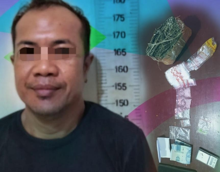 Seorang Pria Miliki Narkotika ditangkap Polsek Simpang Pematang