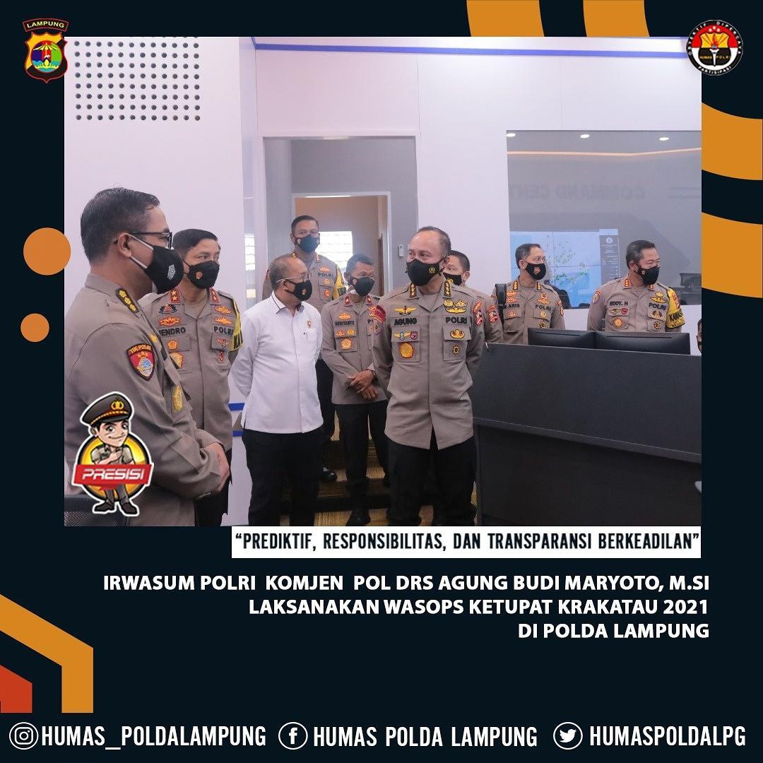 Irwasum Polri Komjen Pol. Drs. Agung Budi Maryoto, M.Si. Monitoring Pos Ramayana Bandar Lampung