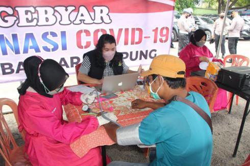 Dua Hari Gerai Vaksin Presisi Polda Lampung dan Jajaran Vaksinasi 12.765 orang