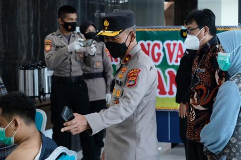 Kebut Percepatan Vaksinasi, Polda Lampung Siapkan 3000 Dosis Vaksin di UIN