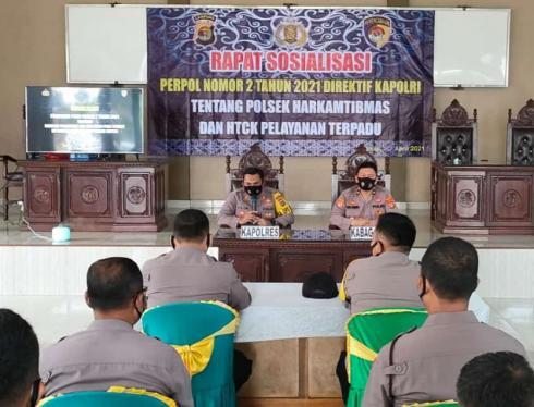 Kapolres Mesuji Membuka Sosialisasi Perpol Nomor 2 Tahun 2021