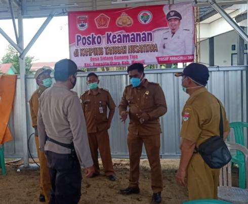 Peresmian Kampung Tangguh di Desa Sidang Gunung Tiga oleh Polsubsektor RJU